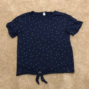 Polka Dot Knotted Tee